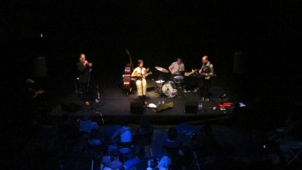 album release with band in Lisbon, Teatro do Bairro, September 2011