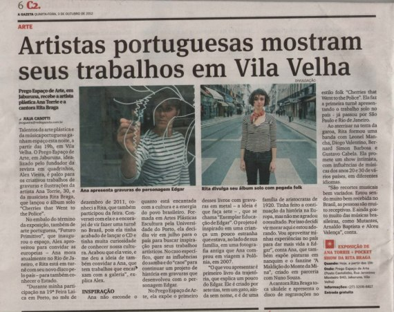"""A Gazeta"" (10/2012) Brazilian newspaper"
