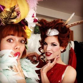 Ministry of Burlesque backstage with Kalinka Kalashnikow in Warsaw, June 2016