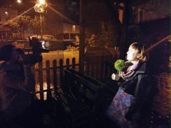 being interviewed in Kakanj, Bosnia i Herzegovina (October 2015)