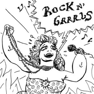 """cd cover """"Rock n' Grrrls"""" (2012)"""