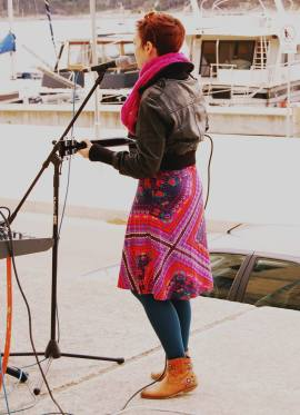 soundchecking for a show at the Sardine Factory in Mali Losinj island, Croatia, Spring 2014