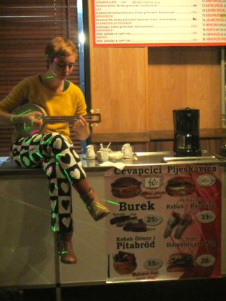 surreal gig at a Burek shop in Malmö, AltCom Festival, November 2015