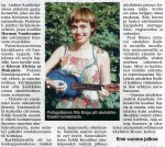 Karkkila newspaper (Finland, August 2015)